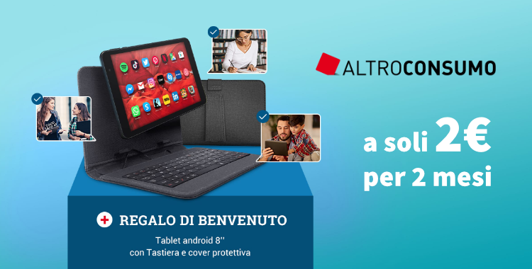 Tablet Android in omaggio